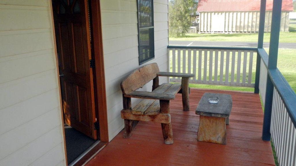 Leyburn Motel Cabin 1 Deck